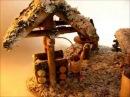 Новогодне-зимняя избушка из пиродных материалов