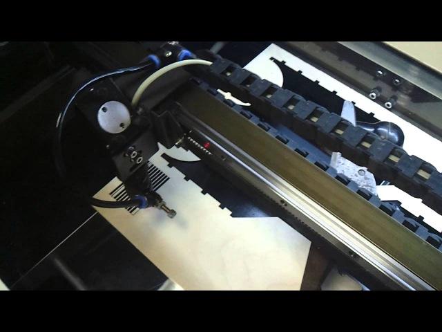 Лазерная резка фанеры с углекислотой Laser cutting plywood with carbon dioxide