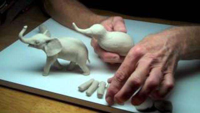 Learn Sculpting - Lesson 3, Part 1: Sculpt a Baby Elephant