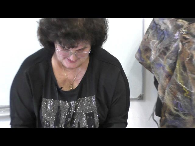 Тонкие палантины с мраморным рисунком Елены Макаровой Рисунок из шелковых квад ...