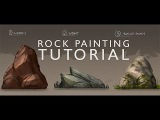 Rock Painting Tutorial - Digital Painting Basics - Concept Art