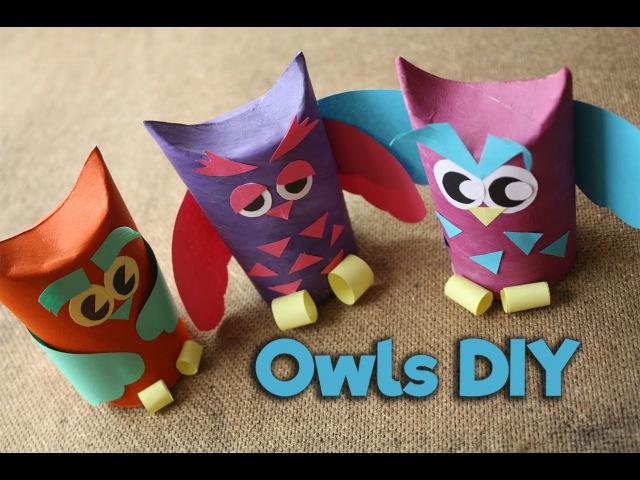 Как сделать поделку Сова из втулки / How to make paper Owl / Easy Kids Craft / DIY / My Paper Quest