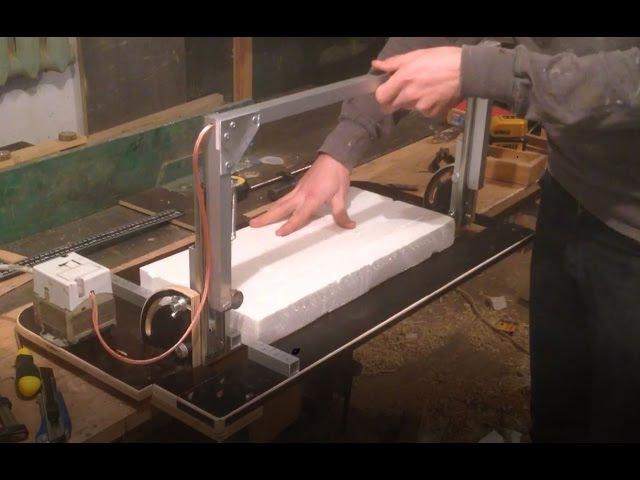 Изготовление станка для резки пенопласта / Making of styrofoam cutter