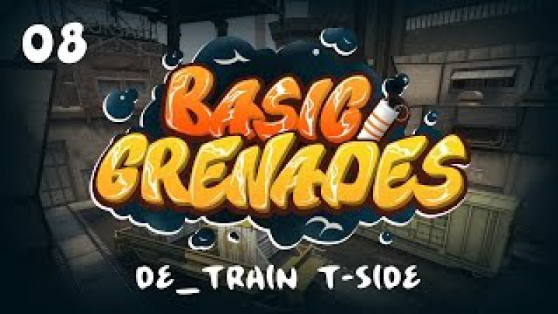 8 Базовый раскид смоков за T на de_train Basic smoke setups for T-side on Train