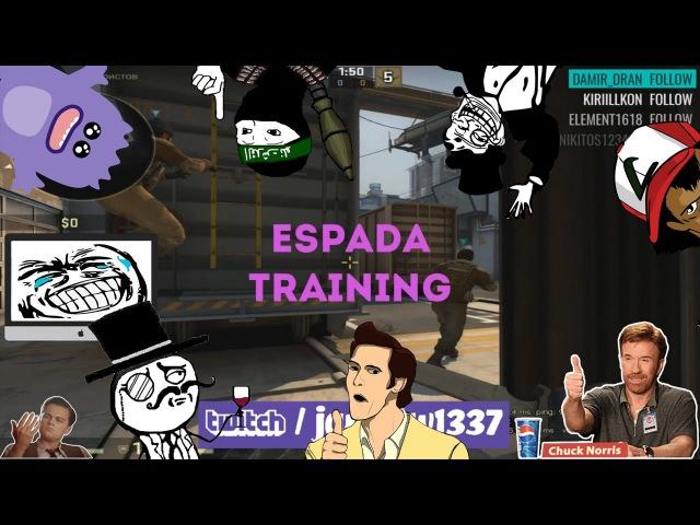 CS GO приколы - Espada Training, The Ustal2h Movie jANiQtW AWP MONSTER