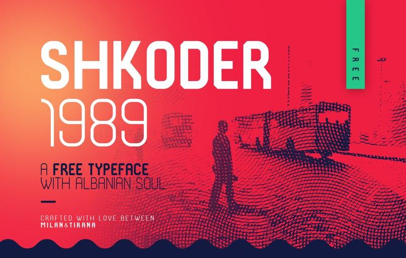 Download SHKODER 1989 font (typeface)