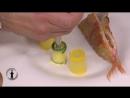 Rouget au lard de Colonnata, rouelles de courgettes au pois chiches. par Geoffre