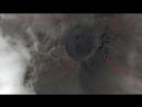Видео извержения вулкана, снятое беспилотником