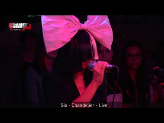 Sia - Chandelier - Live - C'Cauet sur NRJ 11 12 2015 Париж, Франция
