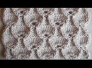 Объемный ажурный узор Вязание спицами Видеоуроки