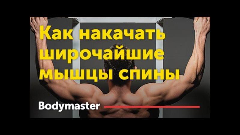 Как накачать широчайшие мышцы спины.
