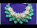 DIY kanzashi necklace 02 / Ожерелье канзаси 02