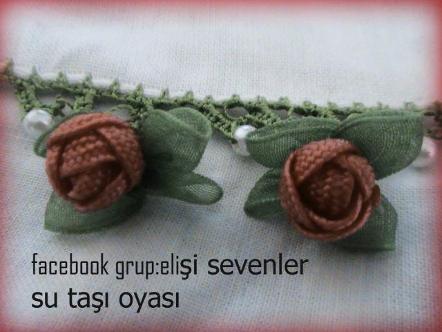 SUTAŞI TOMURCUK GÜL OYASIOrganze Kurdele oyaları Forex flower,health flower, summer flower
