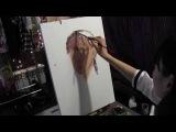 Как приступить к автопортрету через зеркало, художник Фания Сахарова