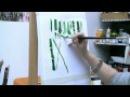 Acrylmalen: Malen lernen, Übungen zum Bambus/ Acrylic painting Tutorial Demo, bamboo painting