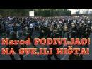 UŽIVO BEOGRAD Masa naroda NEZAUSTAVLJIVA Narod poručuje ILI ON ILI MI Protest i POBUNA Vučić