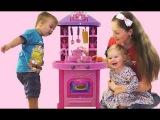 ★ КУХНЯ Распаковка Детской Кухни с Духовкой, Звуком, Светом Toy Kitchen Vegetables cooking soup