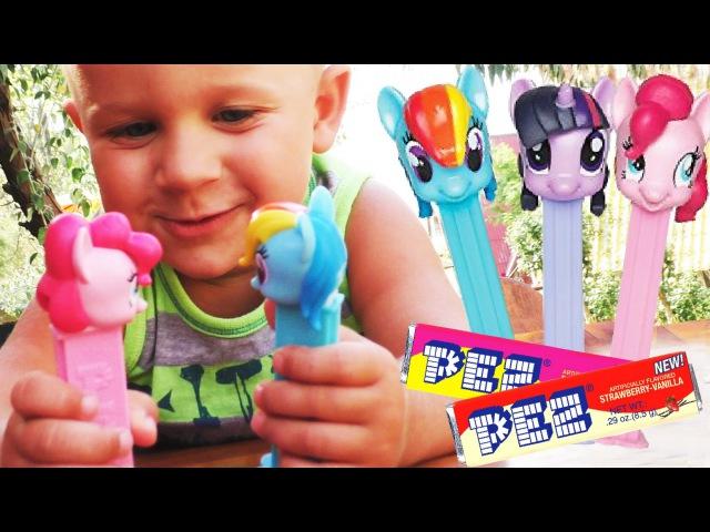★ Открываем Конфеты PEZ Dispensers My Little Pony Мой маленький Пони MLP МЛП