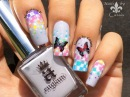 Spring Is In the Air Stamping Nail Art