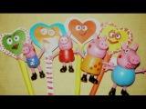 ♥♥♥ Свинка Пеппа и Вероника делают валентинки из бумаги с конфеткой Sweet valentines for Peppa Pig