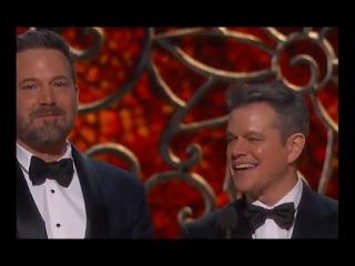 Matt Damon Played Off Stage by Jimmy Kimmel | Oscars 2017