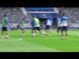 Предматчевая тренировка национальной сборной России  в Тулузе