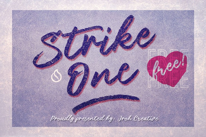Download Strike One font (typeface)
