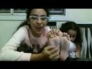 Sisters foot tickling