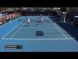 Mathieu_Paire v Bryan_Bryan match highlights (1R) _ Australian Open 2017