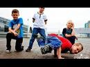 Брейкданс. Дети танцуют Break Dance. Кто как может