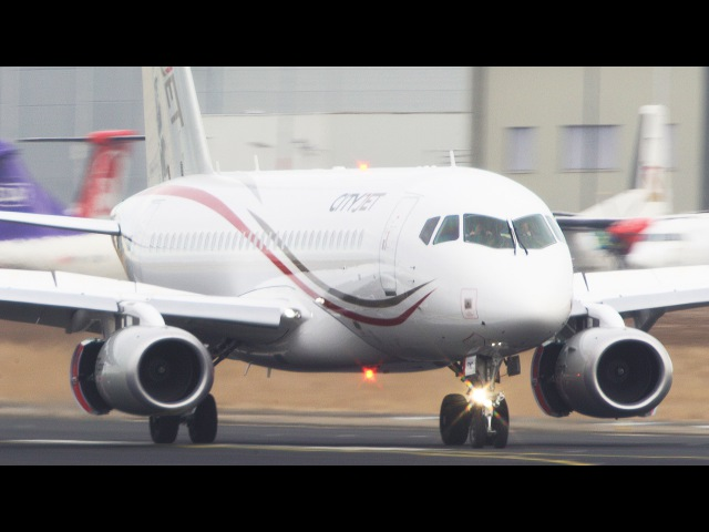 SSJ Cityjet Landing at Maastricht