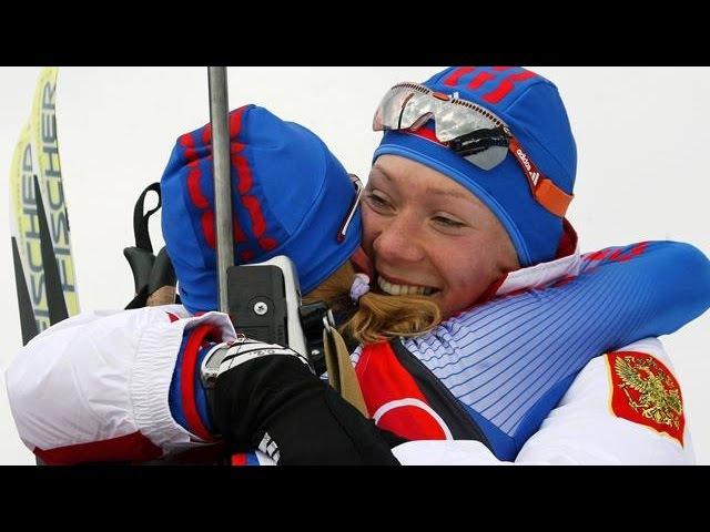 2006 01 11 Биатлон Кубок мира 2005 2006 5 этап Эстафета Женщины Рупольдинг