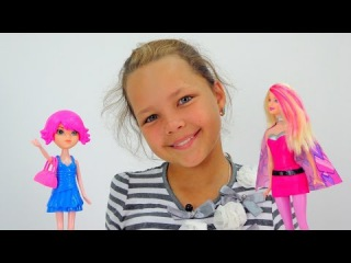 Лучшая подружка Настя - супер Барби-стилист. Видео для детей.