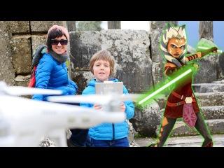 Инфинити квест Игра. Спасти Асоку. Игрушки Звёздные Войны. ИгроБой Адриан и Маша