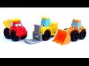 ✿ Про машинки - Чак и его друзья строят гоночную трассу для малышей (игрушечный мультик)