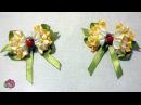Бантики Одуванчики. Канзаши МК/Bows Kanzashi