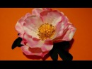 Fabric flowers how to make/rosehip made of fabrics/tutorial/Цветы из ткани: шиповник/легко