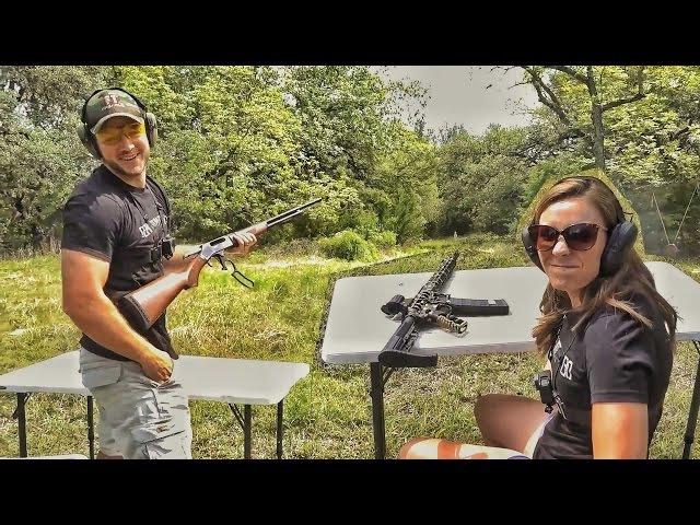 Кто лучше стреляет - муж или жена?   Разрушительное ранчо   Перевод Zёбры