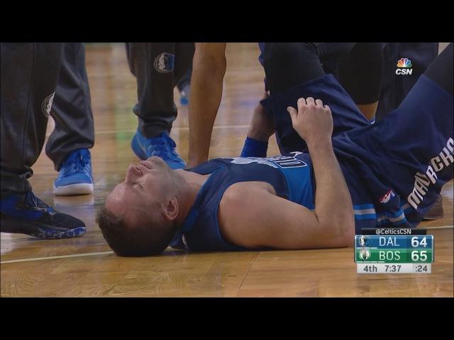 JJ Barea Leg Injury   Mavericks vs Celtics   November 11, 2016   2016-17 NBA Season