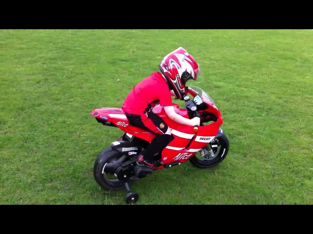 Peg perego ducati moto gp crash