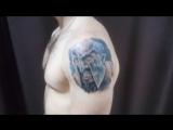 1:22 Процесс нанесения художественной татуировки, тату студия VALKIRIA /г.Пермь