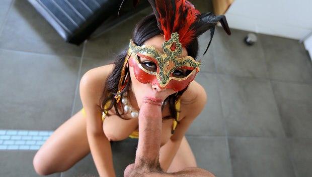 WOW Masked Woman Fucks Her Friend's Man # 1