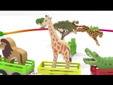 Песни для детей от 1 года. Развивающие мультики про машинки. Паровоз - зоопарк. Животные для детей кукольный театр