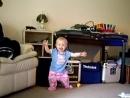 1 year old baby Kira dancing