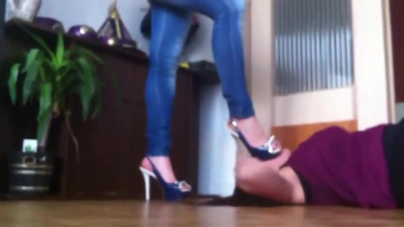 Lezdom heel head crush