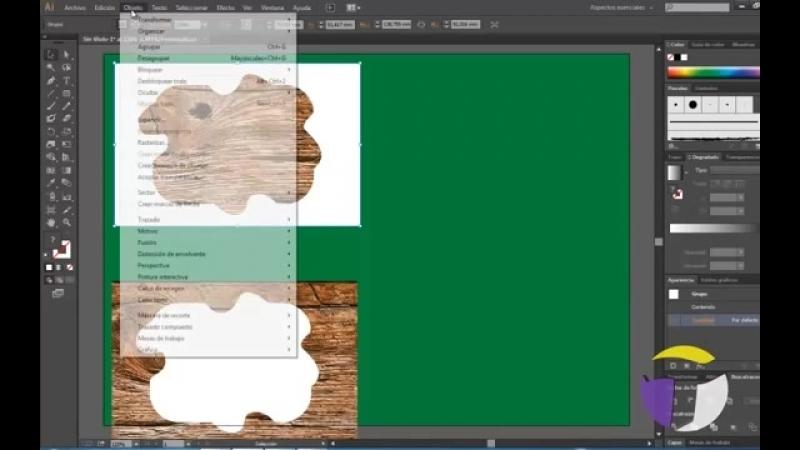Recortar una imagen en Illustrator