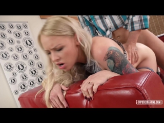 Hot blonde Russian pornstar Lola Taylor gets facial in steamy casting sex