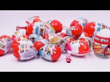 Peppa Pig opens a lot of different Surprise Eggs - Kinder, Star Wars, Ice Age, Angry Birds etc.