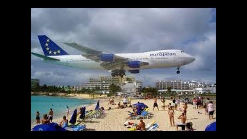 🔴 САМЫЙ ОПАСНЫЙ АЭРОПОРТ ПЛЯЖ 🔴 Most Dangerous Princess Juliana Airport St Martin 22 03 2013