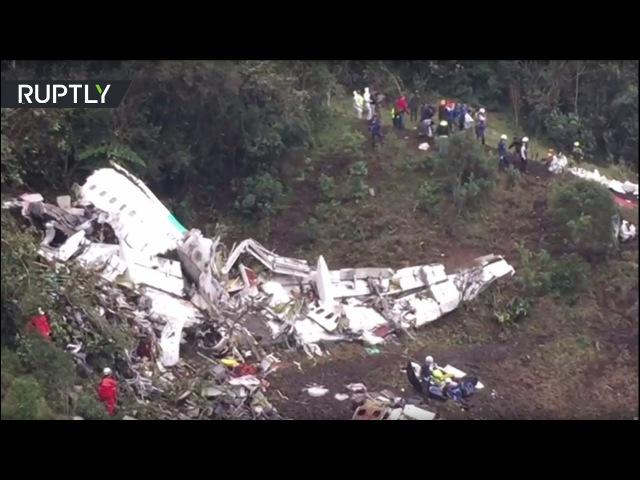 Авиакатастрофа в Колумбии: видео с места трагедии